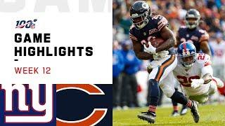 Giants vs. Bears Week 12 Highlights | NFL 2019