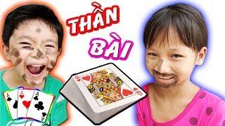 Tony | Đánh Bài Vẽ Nhọ Lên Mặt - Cười Đau Bụng | Children Play Cards