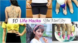 10 Life & Beauty HACKS Every Girl MUST Try - College & School Girls | Anaysa