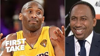 Stephen A. reacts to Kobe saying he would have won 12 rings if Shaq were in shape | First Take
