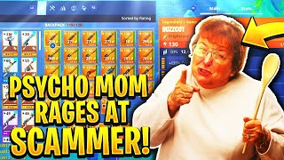 Pyscho Mom Rages At Scammer! (Scammer Gets Scammed) Fortnite Save The World