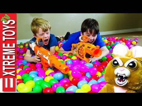 Easter Egg Heist Remastered! Crazy Easter Basket Nerf Battle!