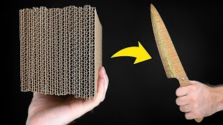COOL HACK HOW TO MAKE A CARDBOARD KNIFE || Awesome Invention