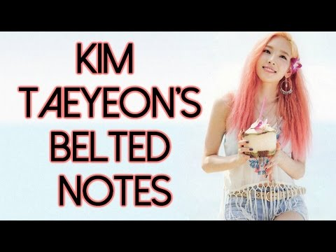 Kim Taeyeon's Live Belted Notes Compilation