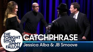 Catchphrase with Jessica Alba and JB Smoove