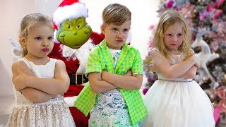 Nastya and Grinch - Who Spoiled the New Year to Children?