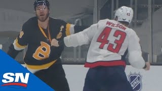 The Bruins Aren't Happy With Tom Wilson   NHL Fights Of The Week