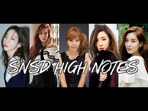 SNSD Favorite high notes / vocals - vocal line : Taeyeon Jessica Seohyun Tiffany Sunny
