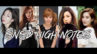 SNSD High Notes -Legendary Vocal line