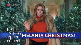 Melania Trump Is Dreaming Of A Dark Christmas