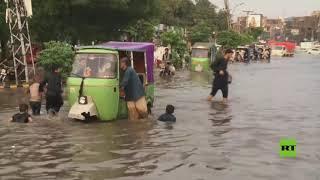 فيضانات عارمة في لاهور الباكستانية