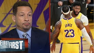 """Chris Broussard """"Impressive"""" AD drops 42 Pts as Lakers def Jazz 116-108 to clinch 1 seed in West"""