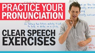 Mouth exercises for CLEAR SPEECH