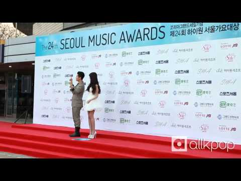 24th Seoul Music Awards red carpet: San E & Raina