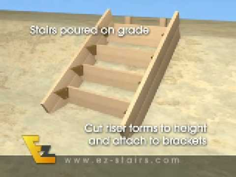 How To Build Concrete Stairs The Easy Way Youtube
