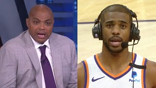 Chris Paul cuts off Charles Barkley to let him know this...