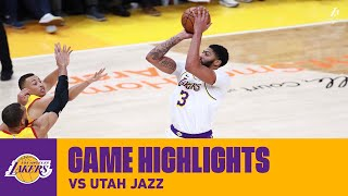 HIGHLIGHTS | Anthony Davis (26 pts, 6 reb, 3 blk) vs. Utah Jazz