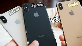 iPhone XS: Gold vs Silver vs Space Gray! (All Colors Compared)
