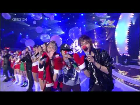 [HD] SNSD+Shinee+f(x)_-_Jingle Bell Rock 091225