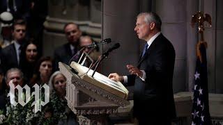 'America's last great soldier-statesman': Jon Meacham eulogizes George H.W. Bush