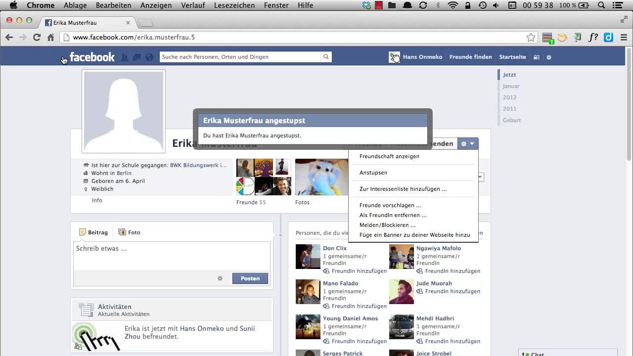 Facebook flirten anstupsen