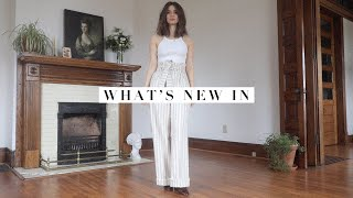 What's New In! Try On Haul - 10 Pieces   Sezane, Free People, & More