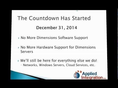 2013-02-12 Dimensions End of Support Webinar Recording