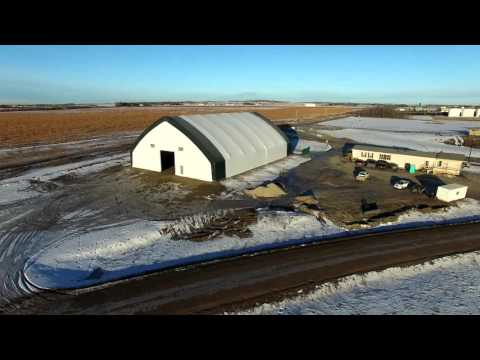 100' x 140' Apex Building Series for Commercial Commodity Storage
