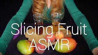 Fruit Slicing ASMR w/ Fuze Tea 💚 Ocean Hands & Whispers