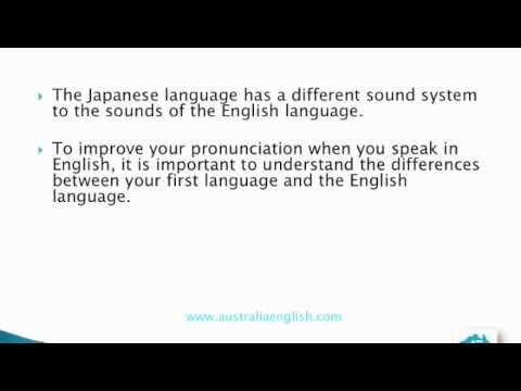 Accent reduction for Japanese Speakers