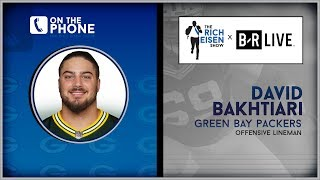 Packers OL David Bakhtiari Talks Chugging Beer vs Aaron Rodgers with Rich Eisen | Full Interview
