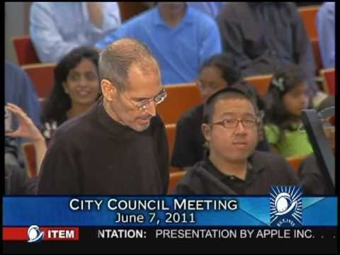 Steve Jobs' Presentation to the Cupertino City Council  (6/7/11)