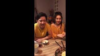 """Trường Giang Nhã Phương ăn chung bữa cơm gia đình sau khi """"VỀ CHUNG MỘT NHÀ"""""""