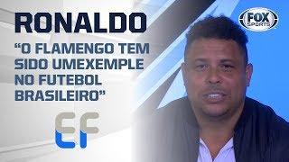 'NASCI E CRESCI FLAMENGUISTA': Ronaldo aponta preocupação com Gabigol e torcida na final