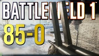 Battlefield 1: 85-0 Flawless Elite Killstreak - Xbox One X Multiplayer Gameplay