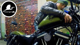 Tank Lift & Wire Tuck - Harley Iron 883 Sportster