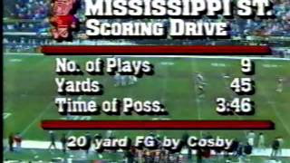 1986 Egg Bowl   Ole Miss 24 v MSU 3