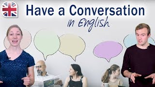 Learn English Conversation - How to Have a Conversation in English