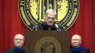 'Regent Emert addresses graduates at Pittsburg State University Spring Commencement 2011