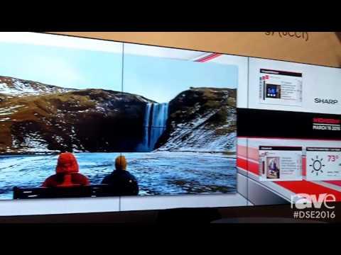 DSE 2016׃ Sharp Showcases PNV551 3'5 Millimeter Ultra Slim Bezel Video Wall Display