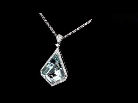 Browns Gemstones Collection 8.93ct Aquamarine & Diamond Necklace