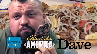 Can Eddie Hall complete the 7000cal 'Killer Kebab' Challenge? | Eddie Eats America