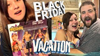 SHE DELAYED VACATION FOR WWE TOY MOTHERLOAD BLACK FRIDAY UNBOXING!