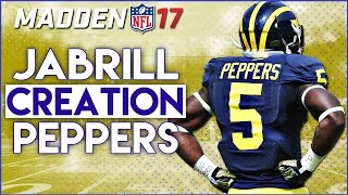 WHAT IF THE PANTHERS DRAFTED JABRILL PEPPERS? MADDEN NFL 17