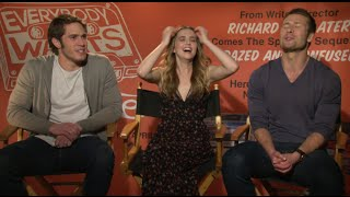 Zoey Deutch, Blake Jenner & Glen Powell talk Linklater's