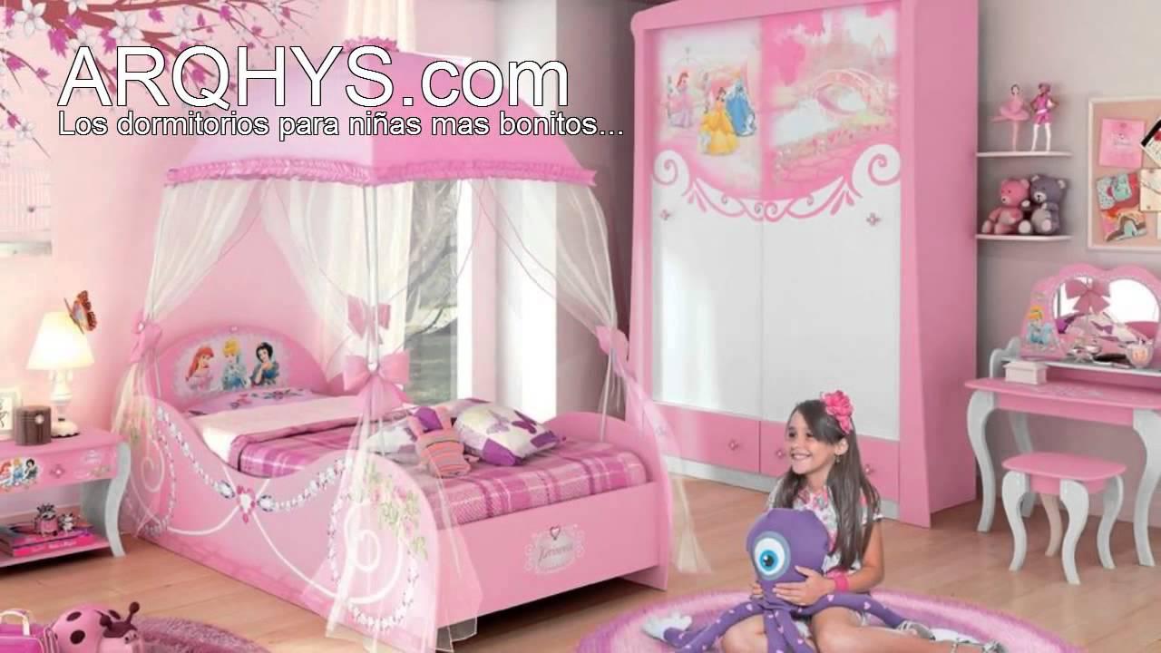 Cuartos infantiles de princesas youtube - Decoracion habitacion infantil nina ...