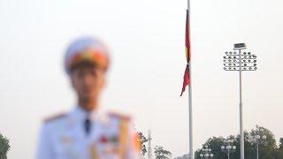 Quốc tang Cố Thủ tướng Phan Văn Khải: Quảng trường Ba Đình treo cờ rủ