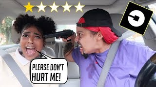 I Picked Up My little sister in an Uber Under Disguise Revenge PRANK!  * GONE WRONG !!!!