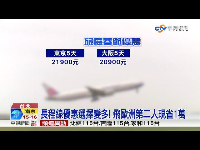 台北旅展提前線上開跑! 春節出國最多省1萬