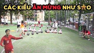 Thử Thách Bóng Đá sút Penalty rồi ăn mừng như Công Phượng , Quang Hải và cầu thủ thế giới